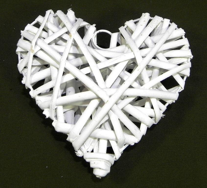 Prútené srdce biele 15 cm 68c519df90c