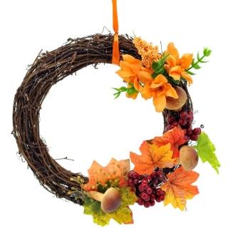 Jesenný prútený venček 24 cm c810adc2909